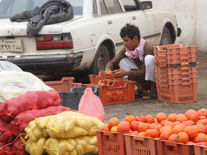 Riyadh Saudi Arabia vegetables vendor