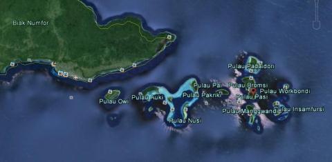 Padaidori islands, Biak Numfor dstrict, West Papua, Indonesia