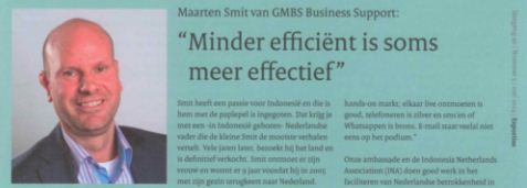 Berichten Buitenland Article Minder efficient is vaak meer effectief